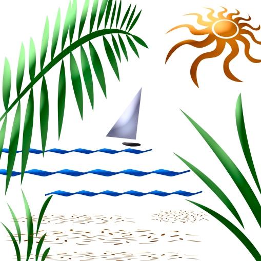 abstract sail boat